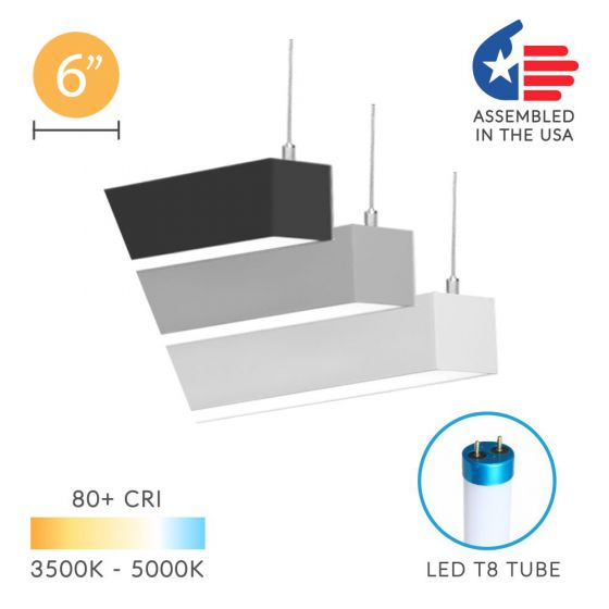 Image 1 of Alcon 12200-6-P RFT LED Linear Suspended Pendant Light