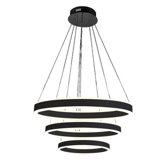 Image 1 of Alcon Lighting 12270-3 Redondo Suspended Architectural LED 3 Tier Ring Direct Indirect Chandelier Light