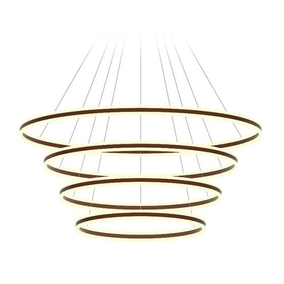 Image 1 of Alcon Lighting 12270-4 Redondo Suspended Architectural LED 4 Tier Ring Direct Indirect Chandelier Light