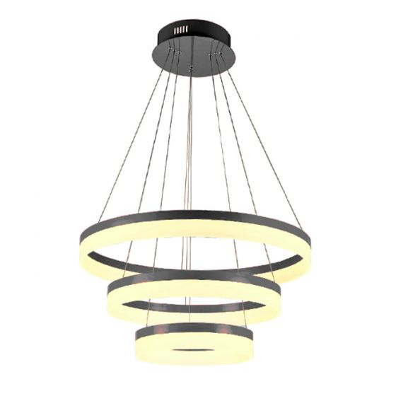 Image 1 of Alcon 12272-3 Redondo Architectural LED 3 Tier Ring Chandelier