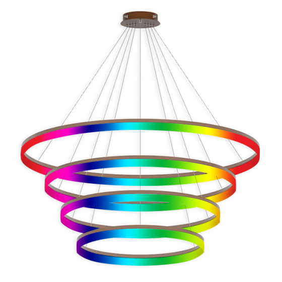 Image 1 of Alcon 12272-4-RGBW Redondo Architectural LED 4 Tier Ring Chandelier