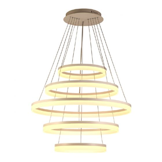 Image 1 of Alcon Lighting 12272-5 Redondo Architectural LED 5 Tier Ring Direct Downlight Chandelier Light