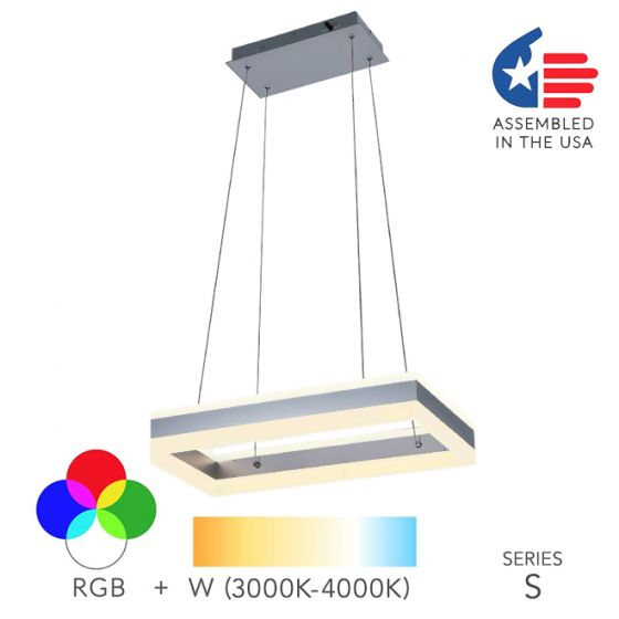 Image 1 of Alcon Lighting 12274-1 Rectangle Architectural LED 1 Tier Direct Indirect Downlight