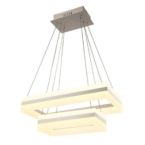 Image 1 of Alcon Lighting 12274-2 Rectangle Architectural LED 2 Tier Direct Downlight