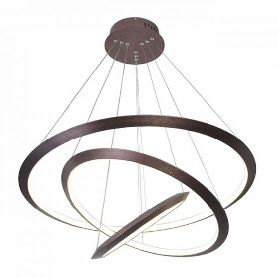 Image 1 of Alcon Lighting 12279-3 Redondo Suspended Architectural LED 3 Tier Ring Direct Indirect Chandelier Light