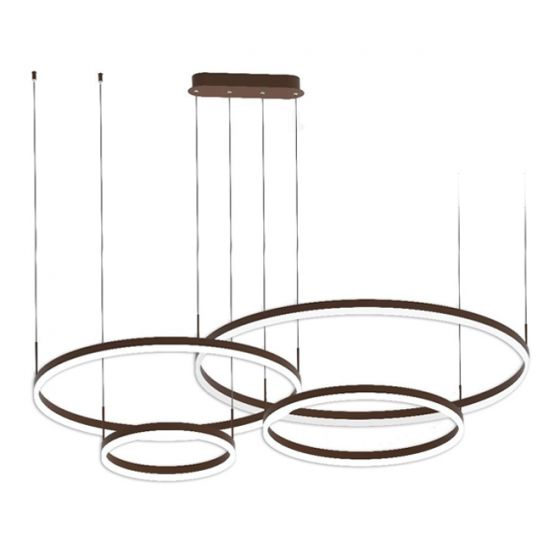Image 1 of Alcon 12279-4 Suspended Architectural LED 4-Tier Ring Chandelier