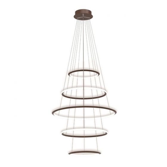 Image 1 of Alcon Lighting 12279-5 Redondo Suspended Architectural LED 5 Tier Ring Direct Indirect Chandelier Light