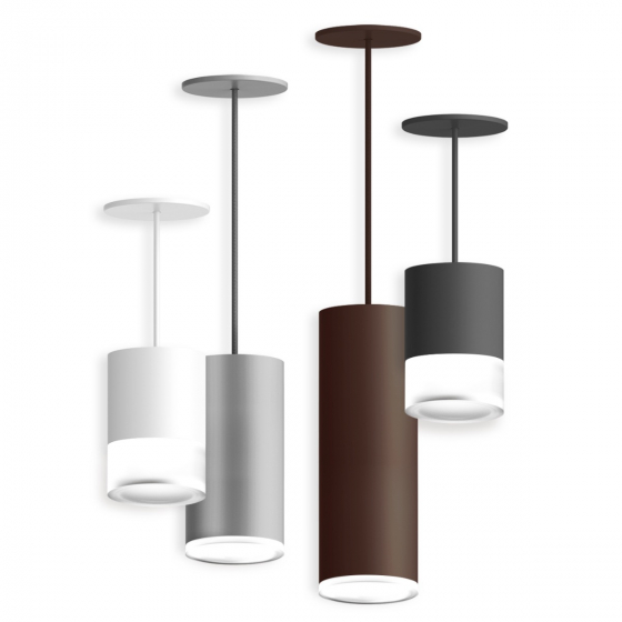 Image 1 of Alcon 12302-P-DL Cylindrical Opal Drop Lens LED Pendant Light