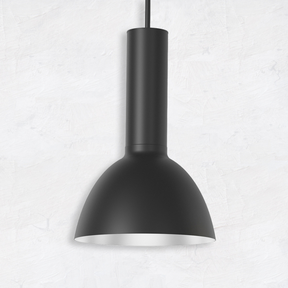 Image 1 of Alcon 12302-P-DM Architectural Half-Moon Dome Industrial LED Pendant Light