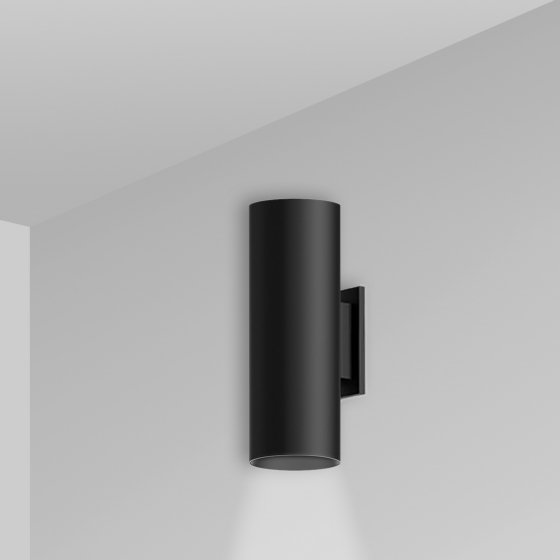 Image 1 of Alcon 12302-W Architectural Cylindrical Wall-Mounted LED Up/Down Light