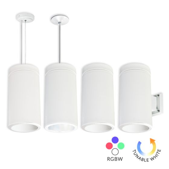 Image 1 of Alcon Lighting 12308 Silo-RGBW Architectural Ceramic LED Smart RGBW 6 Inch Cylinder Direct Downlight Fixture