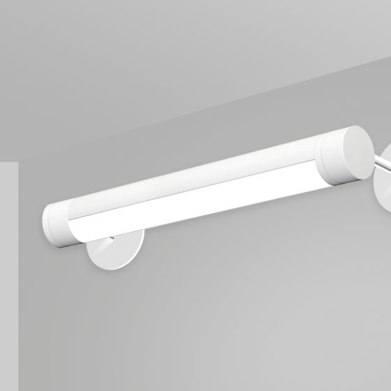 Image 1 of Alcon 12501-R2-W Adjustable Antimicrobial LED Wall Tube Light