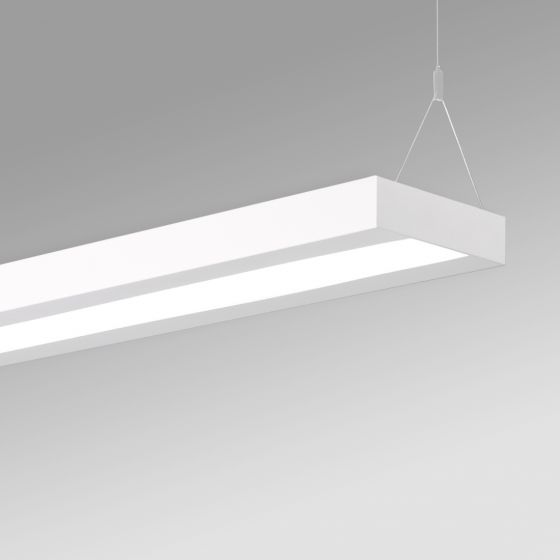 Image 1 of Alcon 12502-P Antimicrobial LED Linear Architectural Ceiling Pendant Light