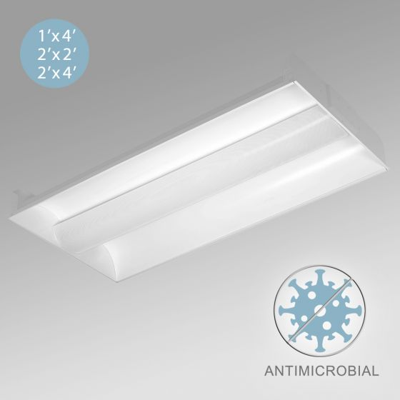 Image 1 of Alcon 12506 Antimicrobial Center Basket LED Troffer Light
