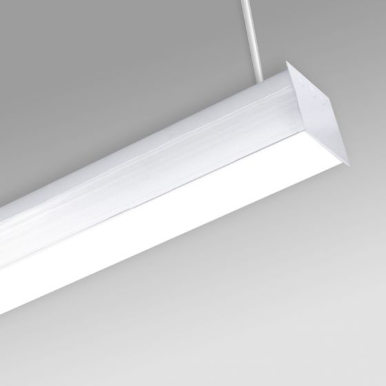 Image 1 of Alcon 12511-P Antimicrobial Pendant-Mounted Linear LED Cube Light