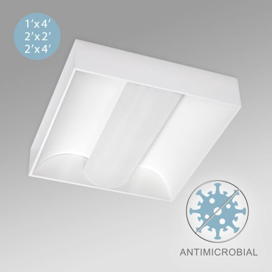 Image 1 of Alcon 12514-S Center Basket Antimicrobial LED Surface-Mounted Troffer Light