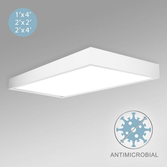 Image 1 of Alcon 12515-S Panel Surface-Mounted Antimicrobial LED Ceiling Light