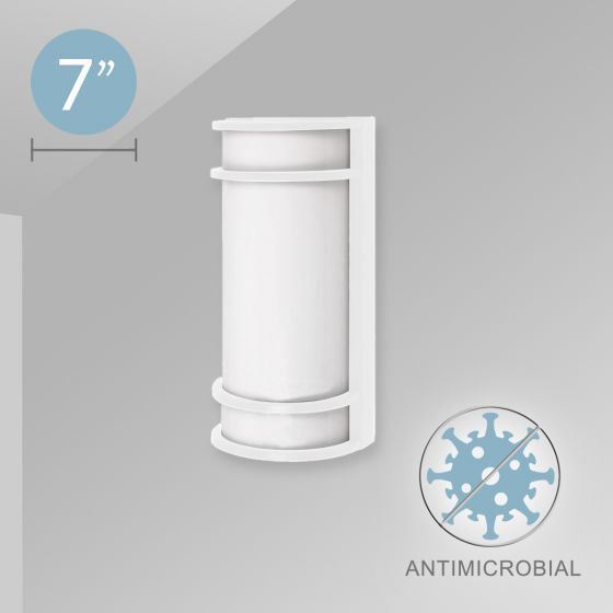 Image 1 of Alcon 12524 Commercial-Grade LED Antimicrobial Wall Sconce