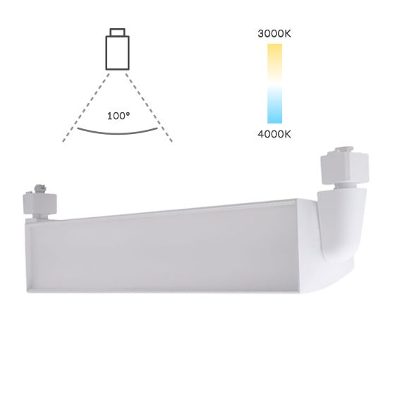 Image 1 of Alcon Lighting 13126 Architectural Fixed Connector 24 Inch LED Wall Wash Track Fixture with 90 Degree Vertical Adjustment
