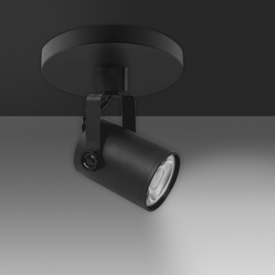 Image 1 of Alcon 13340 Architectural LED Single Swivel Cylinder Track Head