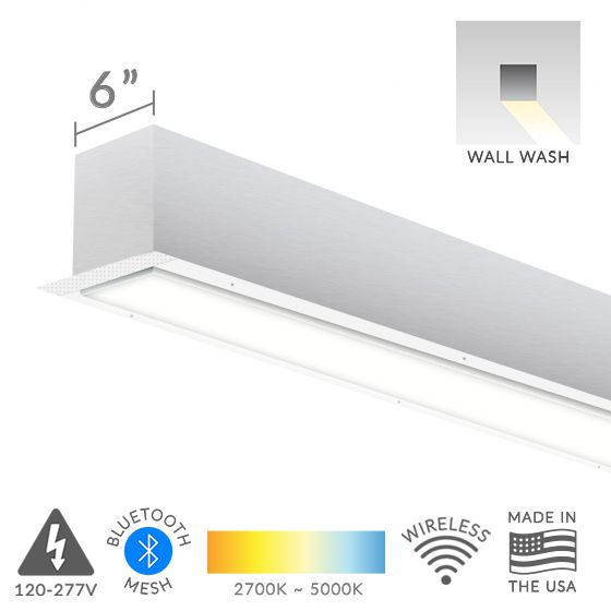 Image 1 of Alcon Lighting 12100-66-RWW Continuum 66 Architectural LED Linear Recessed Wall Wash Light Fixture
