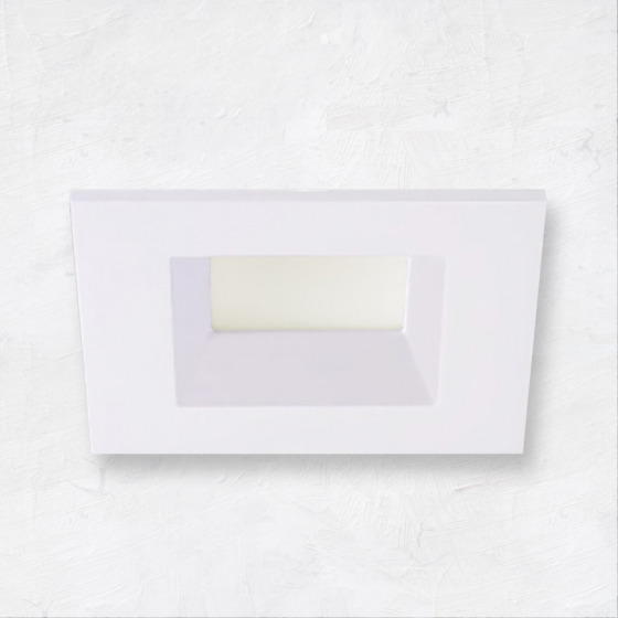 Image 1 of Alcon Escala 14009-4 4-Inch Square Baffle Architectural LED Recessed Can Light