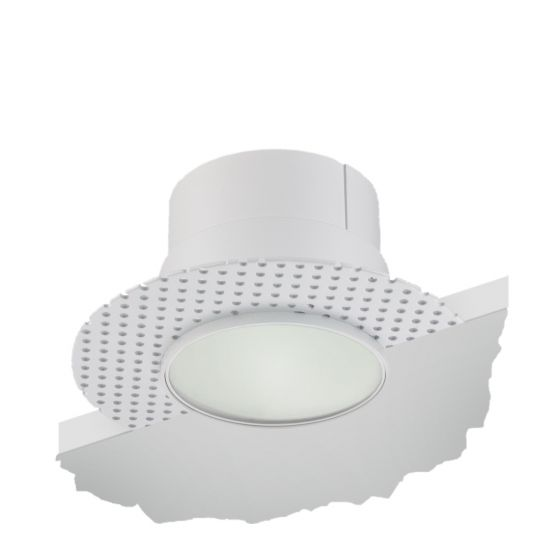 Image 1 of Alcon Lighting 14013-L Illusione 4 Inch Architectural LED Round Trimless Recessed Frosted Lens Light Fixture