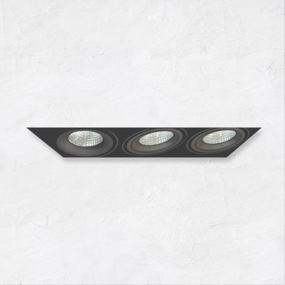 Image 1 of Alcon 14026-3 Oculare 3-Head Trimless Adjustable LED Recessed Light
