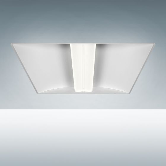 Image 1 of Alcon Lighting 14032 Aces Architectural LED Recessed Center Basket Ribbed Direct Light Troffer