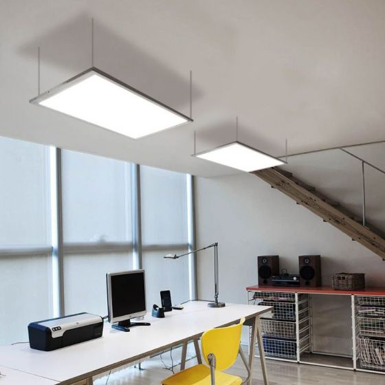 Image 1 of Alcon Lighting 14052 Edge Lit Architectural LED 1x4 Flat Panel Recessed-Surface -Pendant Light Fixture