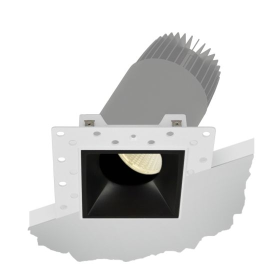 Image 1 of Alcon Lighting 14073-ADJ Illusione 2.5 Inch Architectural LED Square Trimless Recessed Adjustable Down Light Fixture