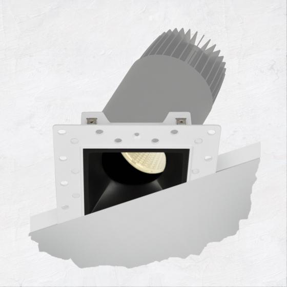 Image 1 of Alcon 14073-ADJ Illusione 2.5-Inch Architectural LED Adjustable Square Recessed Light