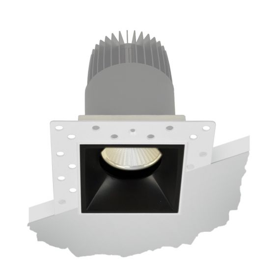 Image 1 of Alcon Lighting 14073-DIR Illusione 2.5 Inch Architectural LED Square Trimless Recessed Fixed Direct Down Light Fixture