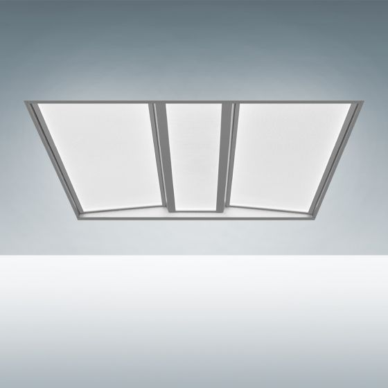 Image 1 of Alcon 14125 Recessed Volumetric Flat-Panel Contemporary LED Troffer Light
