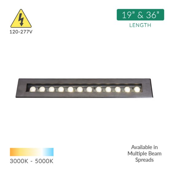 Image 1 of Alcon 14140 LED In-Ground Wall Wash Linear Flood Light