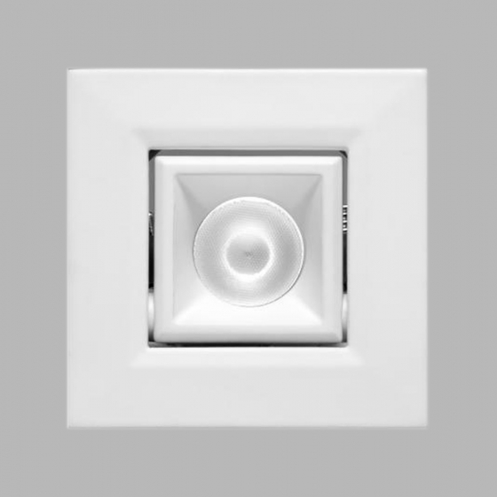 Image 1 of Alcon 14142-S-ADJ Recessed 1-Inch Miniature Square Adjustable Outdoor LED Light