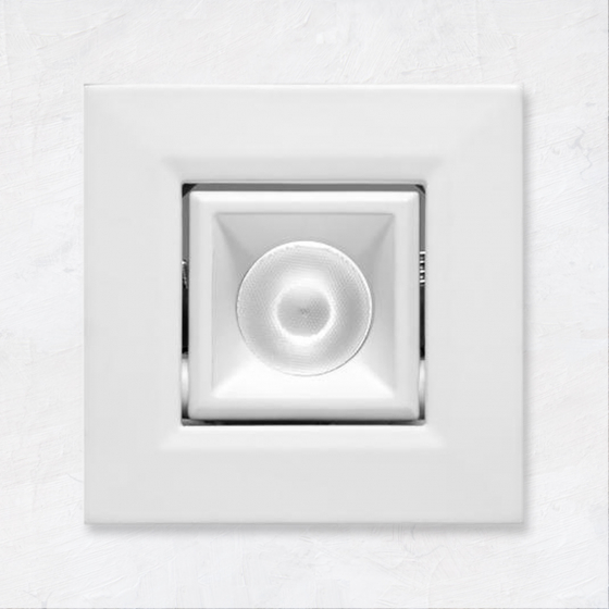 Image 1 of Alcon 14142-S-ADJ Recessed Multiples 1-Inch Miniature LED Adjustable Square Outdoor Light