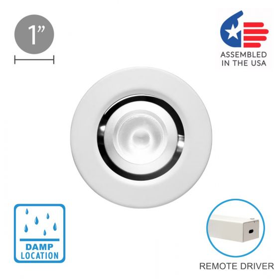 Image 1 of Alcon 14142-R-ADJ Recessed 1-Inch Round Adjustable Outdoor LED Light