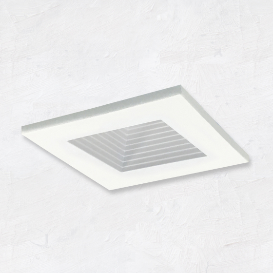 Image 1 of Alcon 14144-S-DIR-B Recessed 2-Inch Baffled Miniature Square LED Light