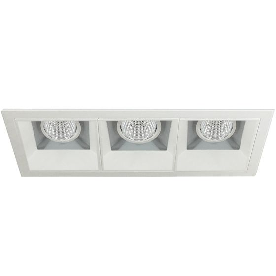 Image 1 of Alcon 14310-3 Oculare LED Architectural 3-Head Multiple Recessed Lighting System Fixture