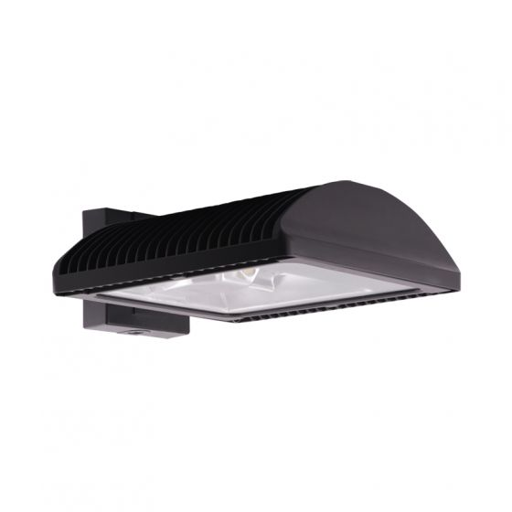 RAB WPLED2T125FX 125 Watt LED Outdoor Wall Pack Fixture Type 2 Distribution with Flat Wall Mount