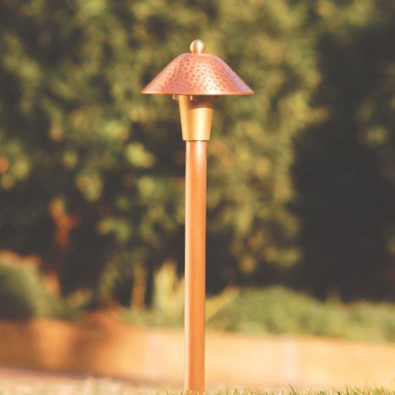Image 1 of SPJ SPJ-HPL-5-LED Outdoor 3 Watt LED Brass Outdoor Path Light