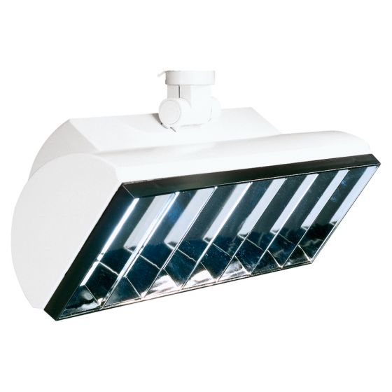 Image 1 of Lightolier Lyteflood L18 18 Watt Twin Tube Fluorescent Track Head 8276