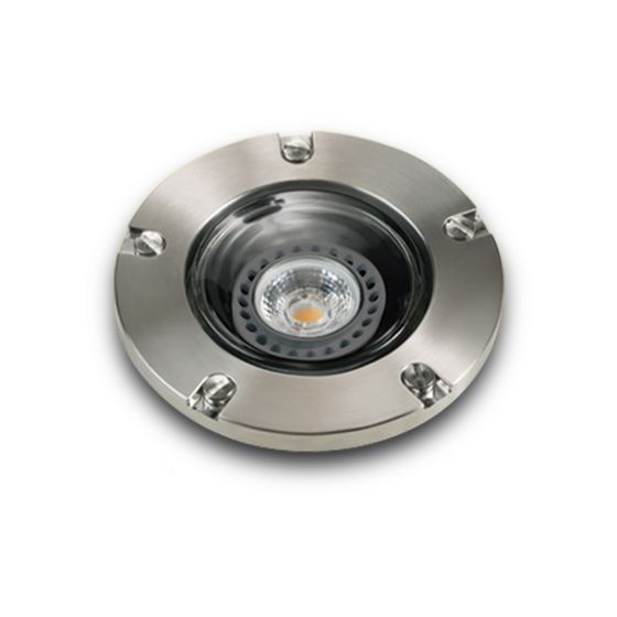 Image 1 of Alcon Lighting 9026-SS Harper Architectural Landscape LED Low Voltage In-Ground Drive-Over Rated Marine Grade Stainless Steel Well Light