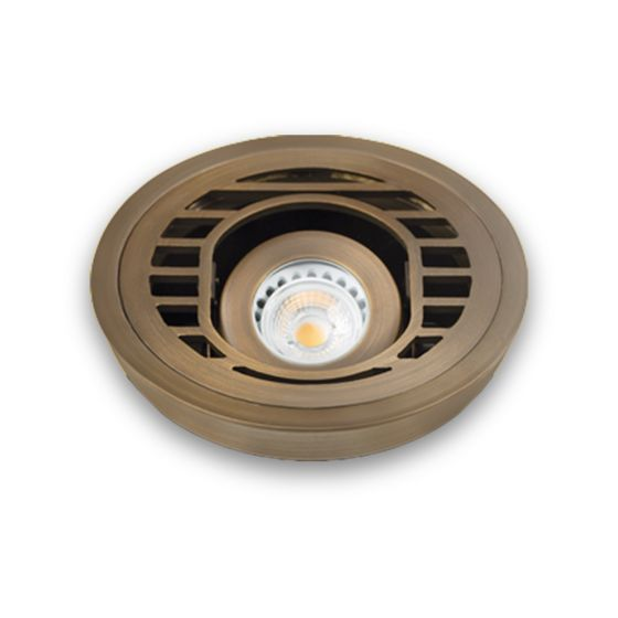 Image 1 of Alcon 9031 Adjustable Low-Voltage In-Ground LED Well Uplight
