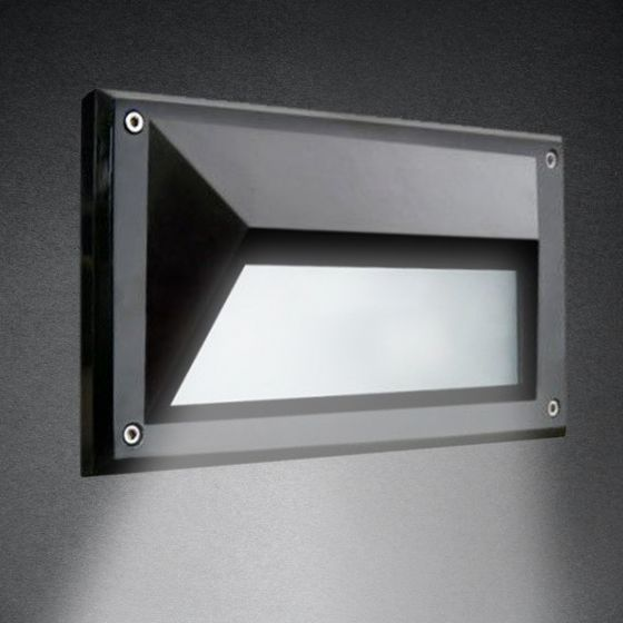 Image 1 of Alcon 9608 Recessed Wall-Mounted LED Step and Driveway Light