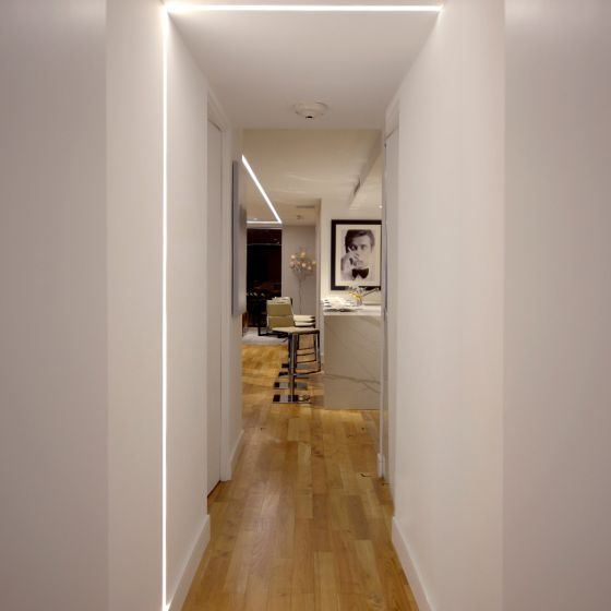 Image 1 of Alcon 12100-23-R-L Linear Recessed Ceiling-to-Wall LED Light Strip