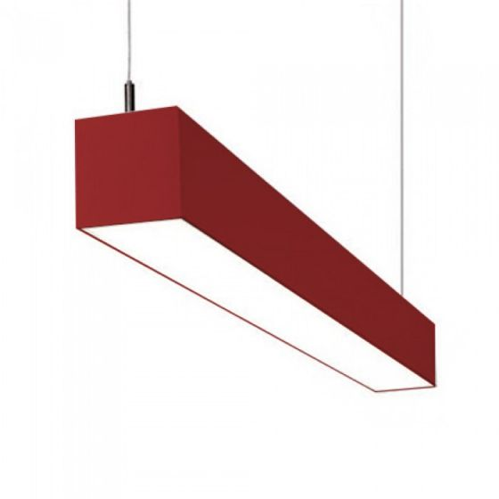 Image 1 of Alcon Lighting IL MODO 12110 Series LED Suspended Linear Pendant LED Architectural Light Fixture - Red