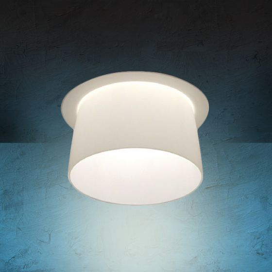 Image 1 of Alcon Lighting 14023 Bunbury Series Semi-Recessed 6 Inch LED Handblown Opal Glass Downlight