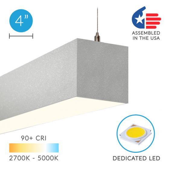 Image 1 of Alcon Lighting 12100-40-P Continuum 40 Series Architectural LED Linear Pendant Mount Direct/Indirect Light Fixture